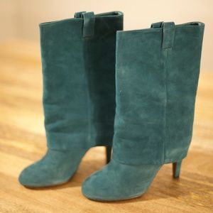 ASH Teal Suede Boots